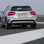 Mercedes GLA 45 AMG press shots rear view
