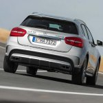 Mercedes GLA 45 AMG press shots rear