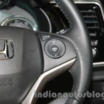 New Honda City diesel steering wheel cruise control button from the launch