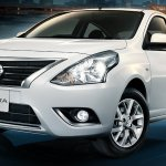 Nissan Sunny facelift front three quarters press image