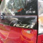 Perodua Alza facelift badge