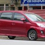 Perodua Alza facelift front quarter