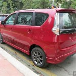 Perodua Alza facelift rear quarter