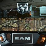 Ram 1500 Mossy Oak Edition logo at NAIAS 2014