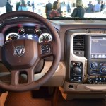 Ram 1500 Mossy Oak Edition steering wheel at NAIAS 2014