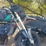 Redesigned Mahindra Mojo spied front wheel