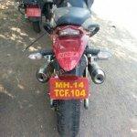 Redesigned Mahindra Mojo spied rear