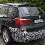 Spied 2014 BMW X3 Facelift rear quarter