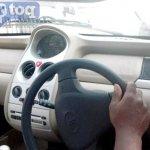Tata Nano Twist Spied steering
