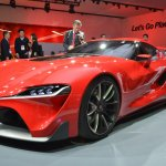 Toyota FT-1 front rear quarter left at NAIAS 2014