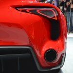 Toyota FT-1 rear light and exhaust at NAIAS 2014