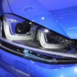 VW Golf R headlamp at NAIAS 2014
