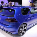 VW Golf R rear three quarter at NAIAS 2014