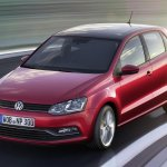VW Polo facelift front three quarters press image