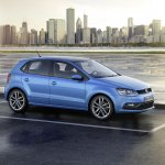 VW Polo facelift side view press image