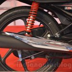 2014 Honda Dream Yuga exhaust and new red shock absorbers live