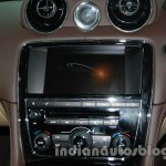 2014 Jaguar XJ center console at Auto Expo 2014