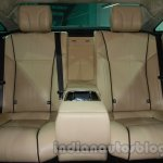 2014 Jaguar XJ rear seat at Auto Expo 2014