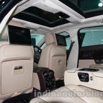 2014 Jaguar XJ rear seating at Auto Expo 2014
