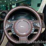 2014 Jaguar XJ steering wheel at Auto Expo 2014