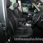 2014 Land Rover Discovery front seats at Auto Expo 2014