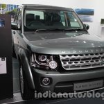2014 Land Rover Discovery front three quarters left at Auto Expo 2014