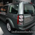 2014 Land Rover Discovery rear three quarters left at Auto Expo 2014
