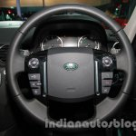 2014 Land Rover Discovery steering wheel at Auto Expo 2014