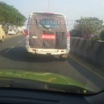 2014 Mahindra Scorpio facelift Chennai spied rear view