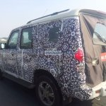 2014 Mahindra Scorpio facelift spied again in Chennai rear side