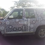 2014 Mahindra Scorpio facelift spied again in Chennai side