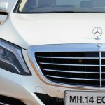 2014 Mercedes S Class review grille and light