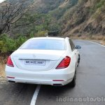 2014 Mercedes S Class review rear on road