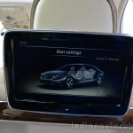 2014 Mercedes S Class review screen rear