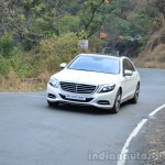 2014 Mercedes S Class review tracking shot