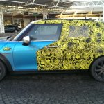 2014 Mini 5-door spied Germany side