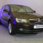 2014 Skoda Superb facelift launch images front three quarter