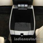 2014 Toyota Corolla storage bin under armrest at Auto Expo 2014