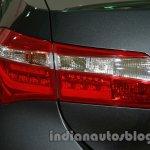 2014 Toyota Corolla taillight at Auto Expo 2014