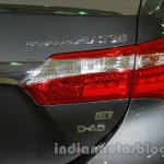 2014 Toyota Corolla taillamp at Auto Expo 2014