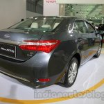 2014 Toyota Corolla rear three quarters right at Auto Expo 2014