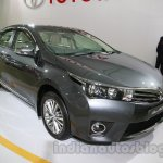 2014 Toyota Corolla front three quarters left at Auto Expo 2014