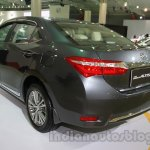 2014 Toyota Corolla rear three quarters at Auto Expo 2014