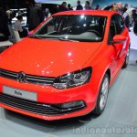 2014 VW Polo facelift front three quarters at Geneva Motor Show 2014
