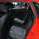 2014 VW Polo facelift rear seat at Geneva Motor Show 2014