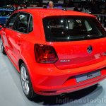 2014 VW Polo facelift rear three quarters at Geneva Motor Show 2014