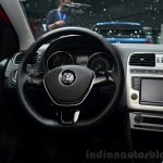 2014 VW Polo facelift steering wheel at Geneva Motor Show 2014