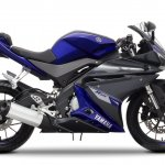 2014 Yamaha YZF-R125 Race Blu press shot