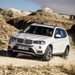 2015 BMW X3 facelift press shot front quarter