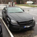 2015 Mercedes CLS facelift caught in Europe